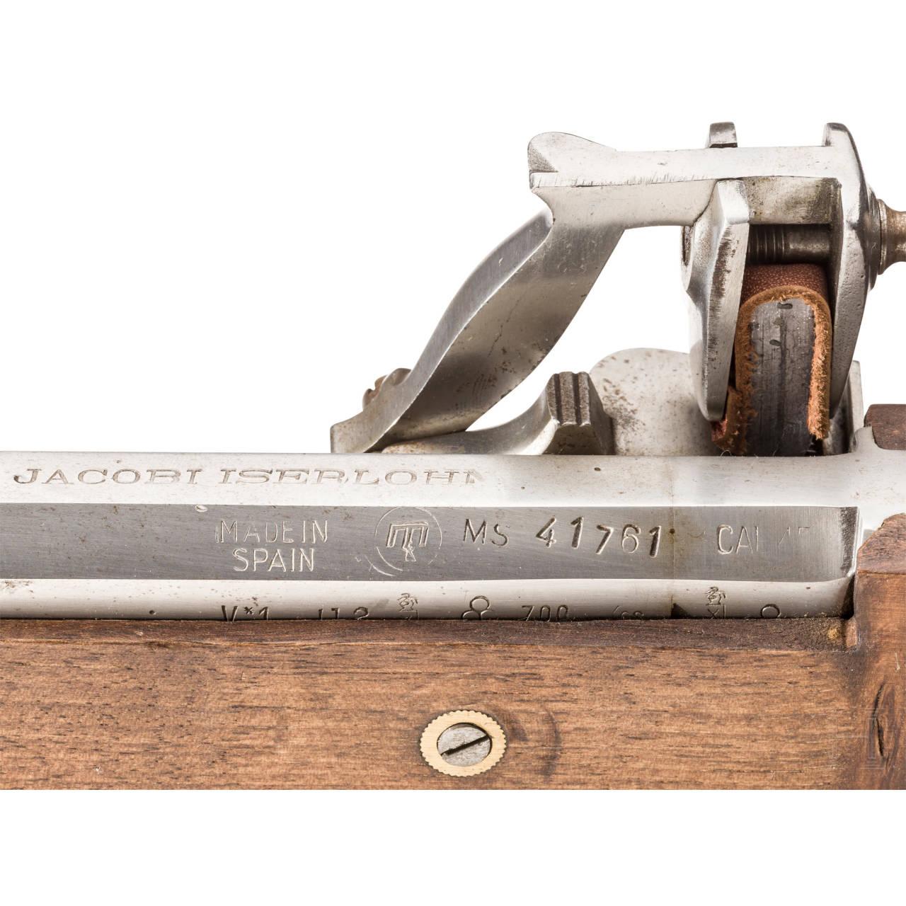 A wheellock pistol, Spanish replica by Jacobi, Iserlohn, in the style of 1630