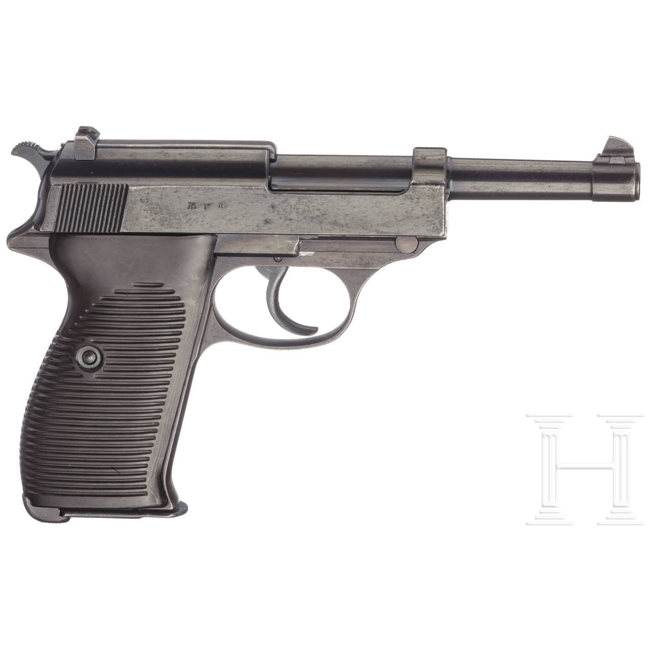 """A Walther P 38,""""480"""" coded, 1st issue, with hard-shell holster and two magazines with matching numbers"""