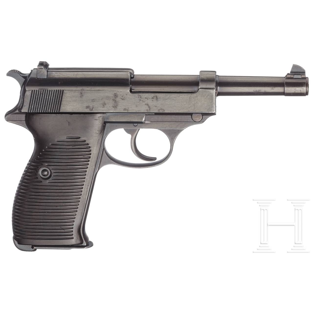"""A Walther P 38, """"ac - 40"""" coded, with hard-shell holster"""