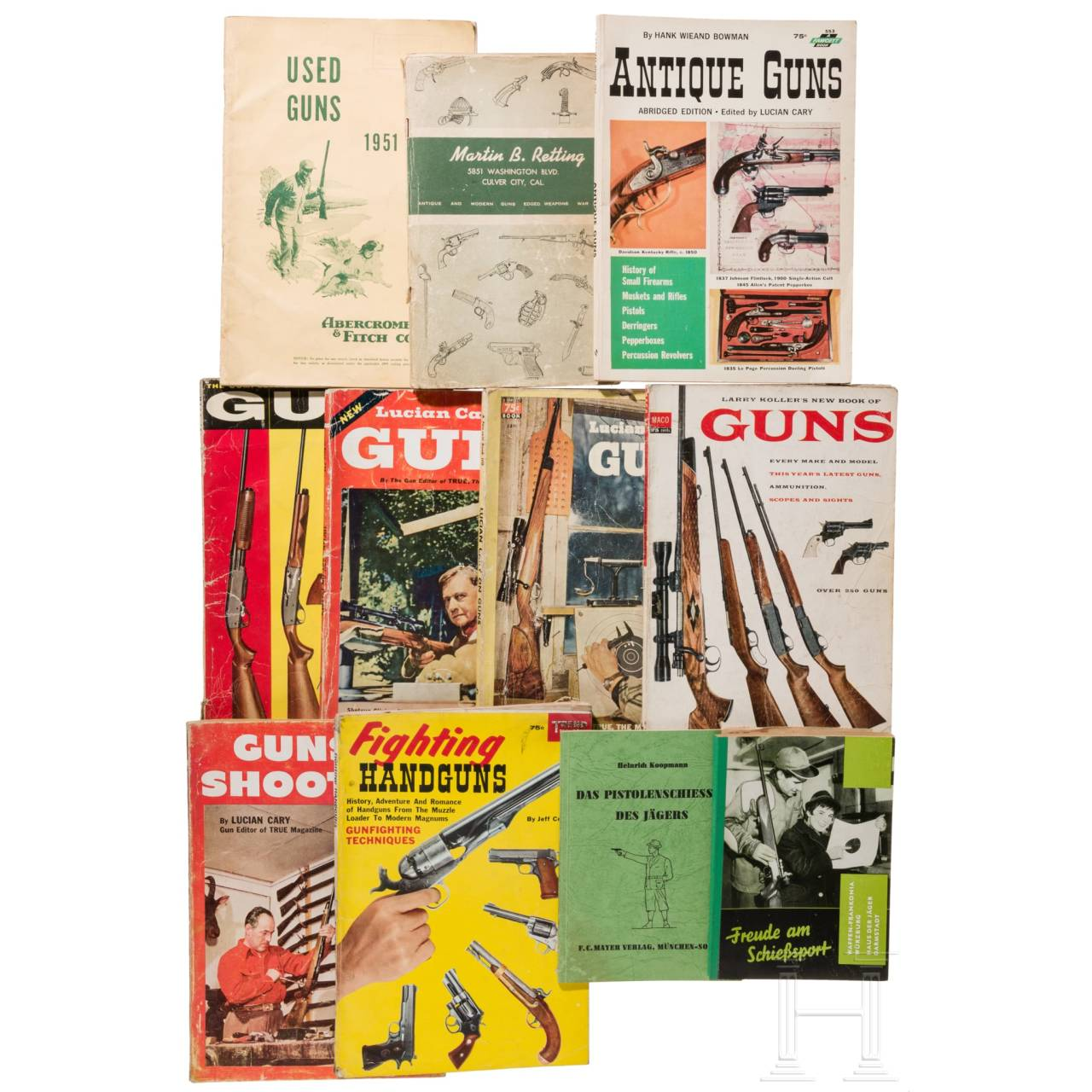 Large group of gun books