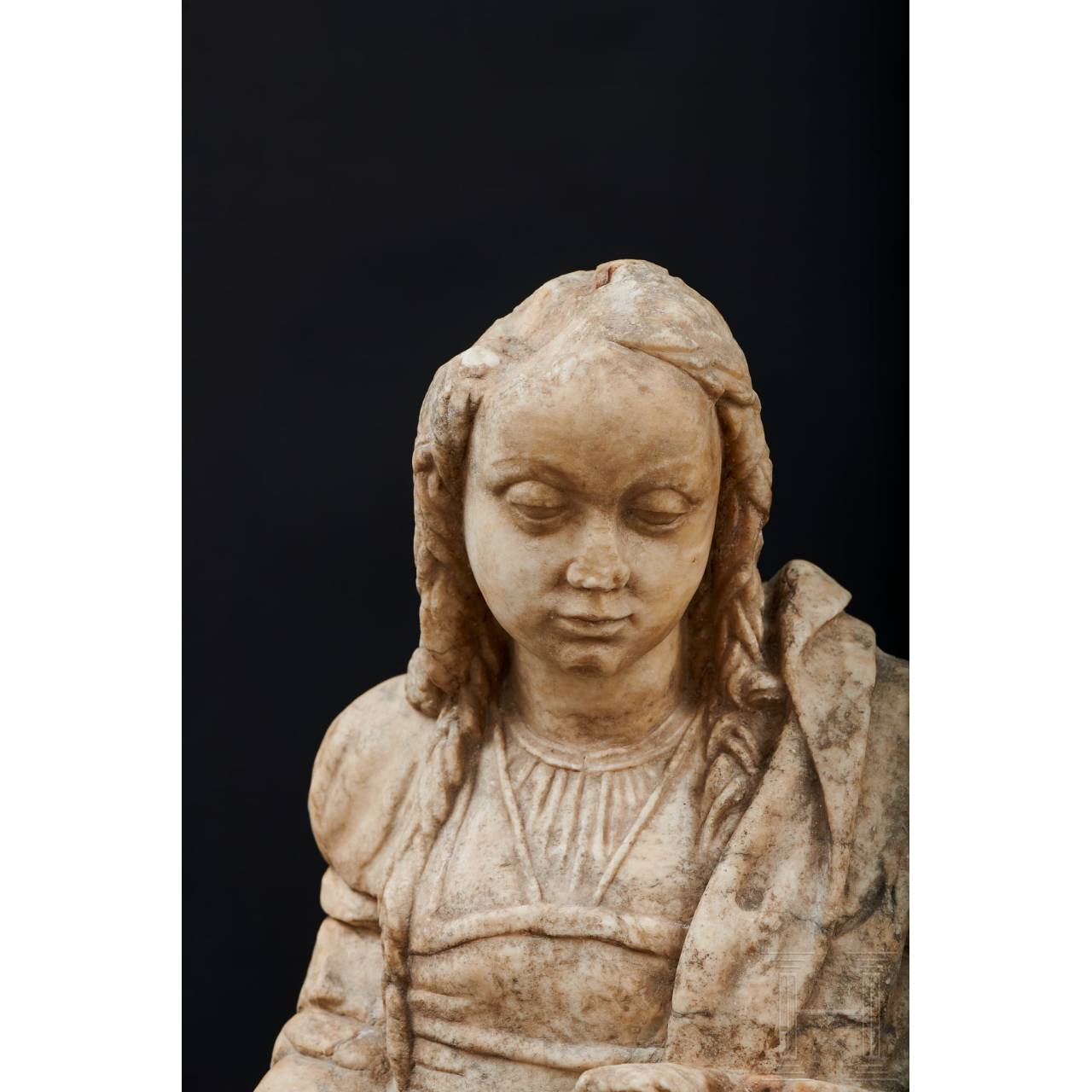 A North French Madonna in alabaster, 16th century