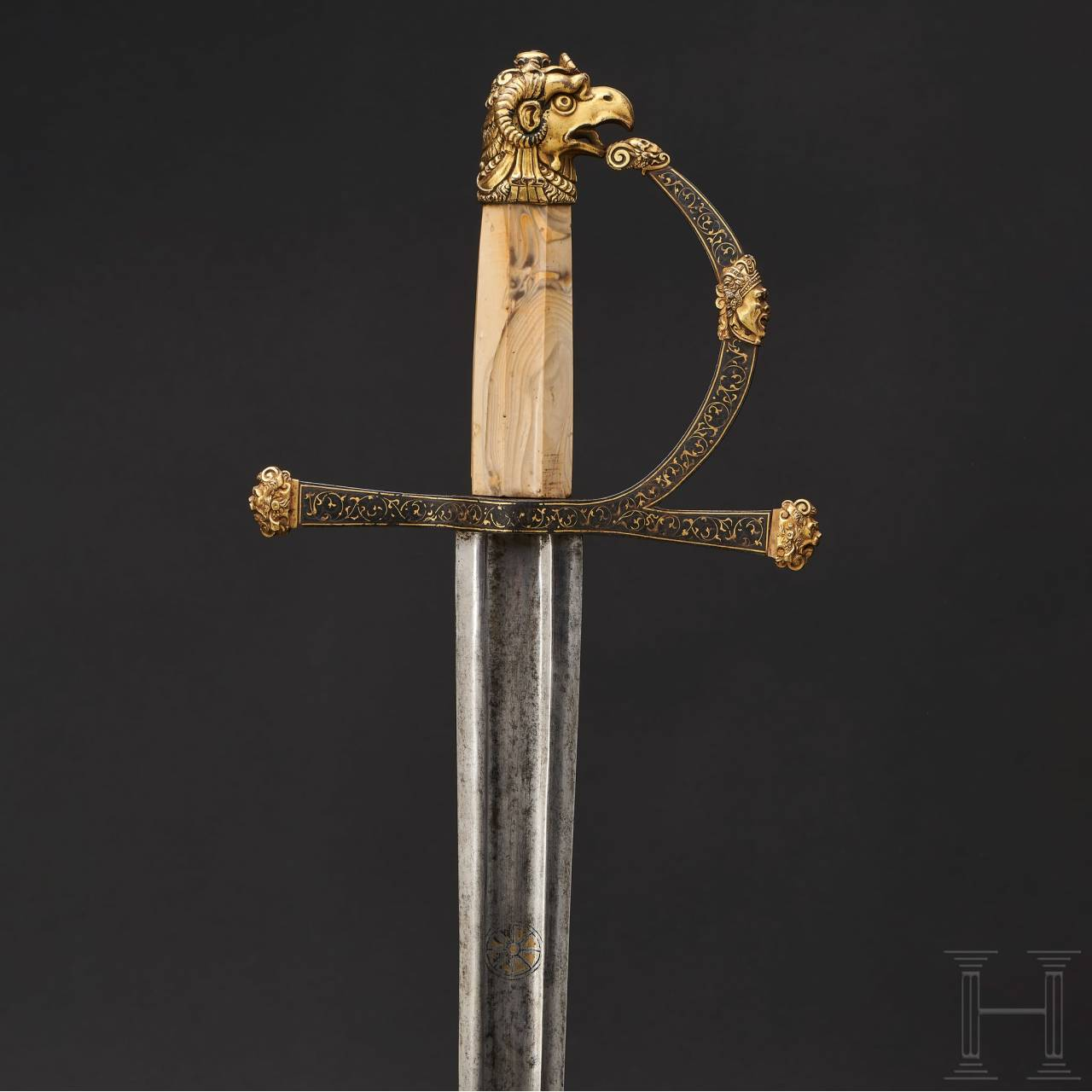 A significant Renaissance splendid sword with a Gothic blade, Fontainebleau, circa 1550-60