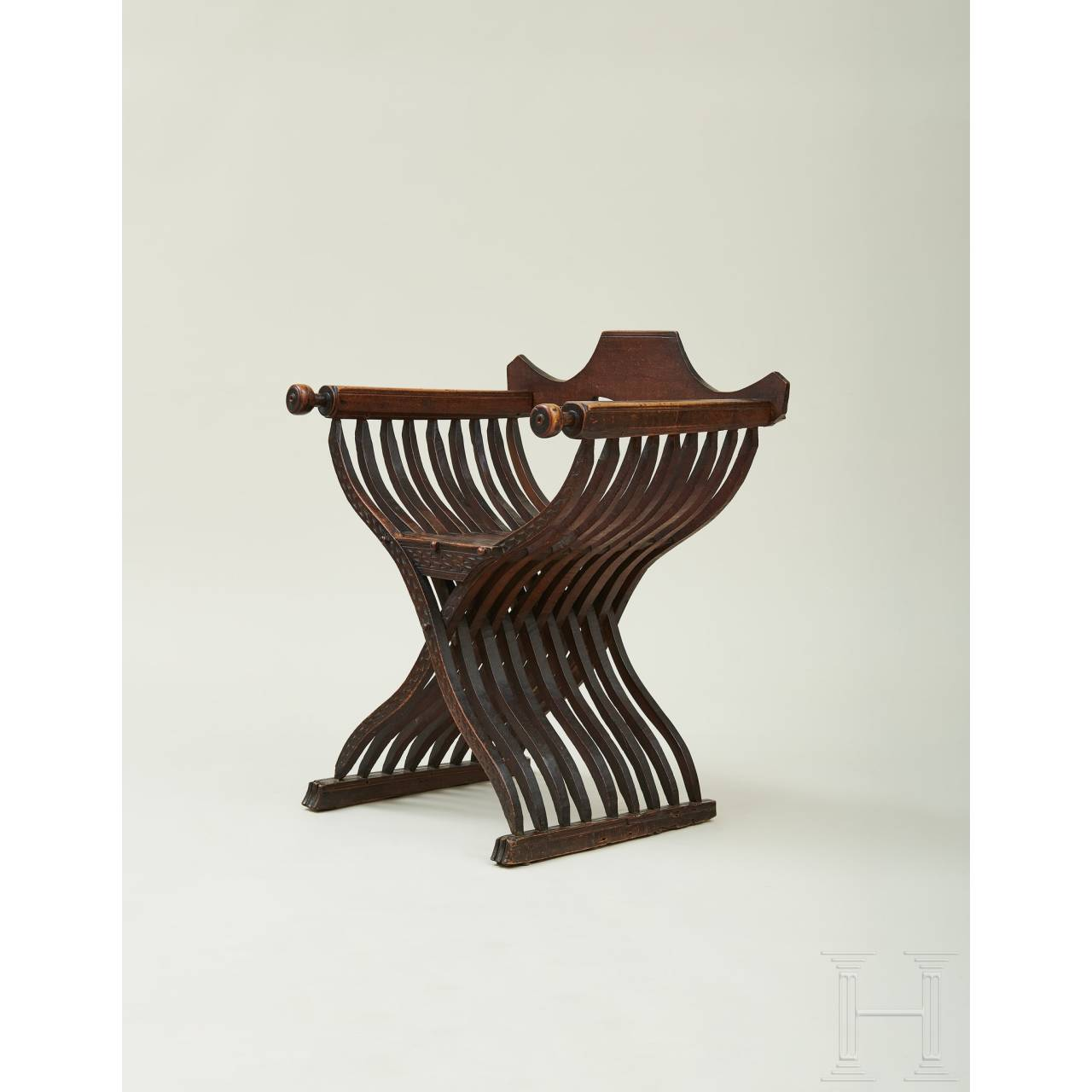 An Italian Renaissance folding chair, 16th century