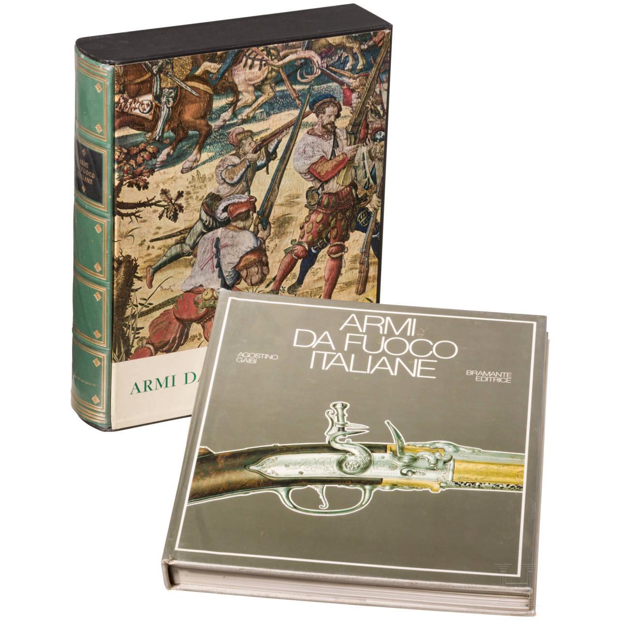 """Gaibi Agostino, """"Le Armi da Fuoco Italiane"""", two books"""