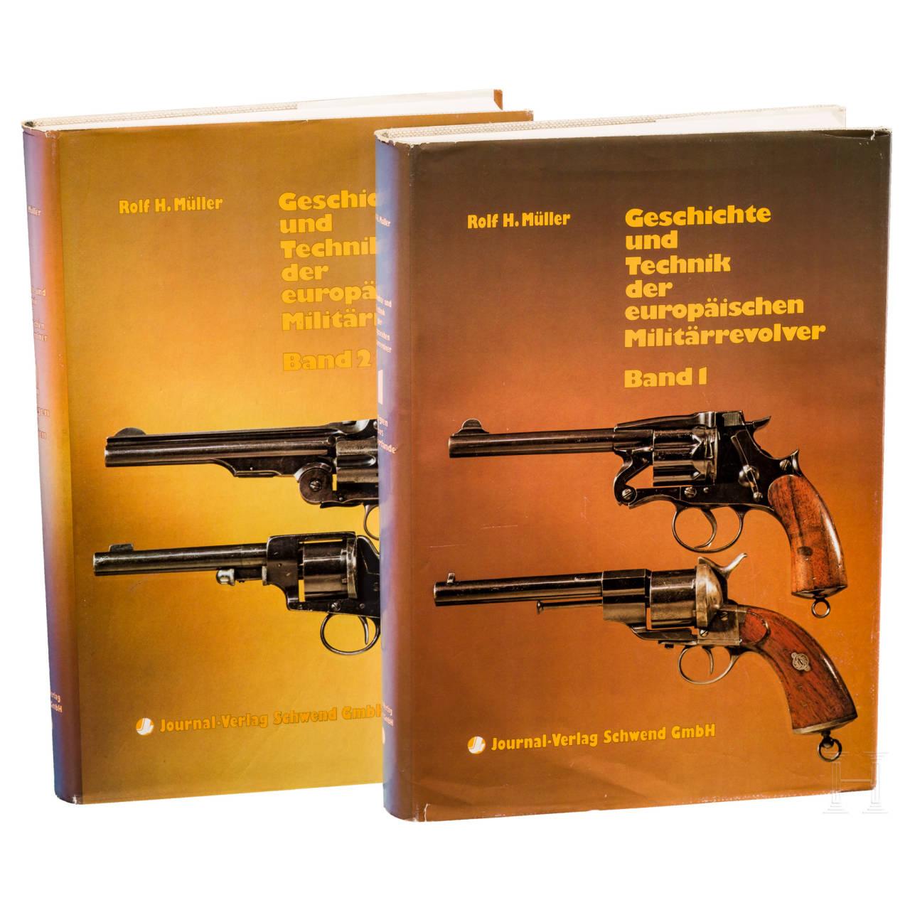 """Two books by Rolf H. Müller, """"Geschichte und Technik der europäischen Militärrevolver"""""""