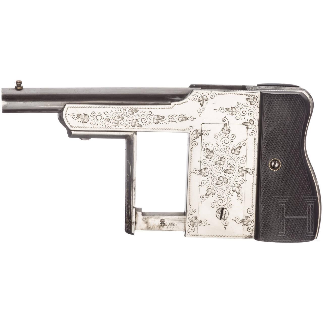 Handdruckpistole Rouchouse-Merveilleux, um 1890