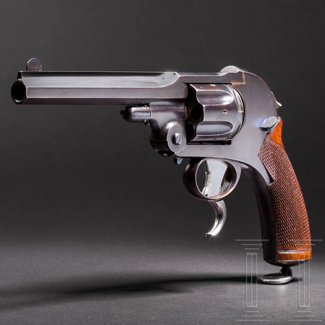 Revolver Konstruktion Schlund, Kynoch Gun Factory Aston, Prototyp 1885
