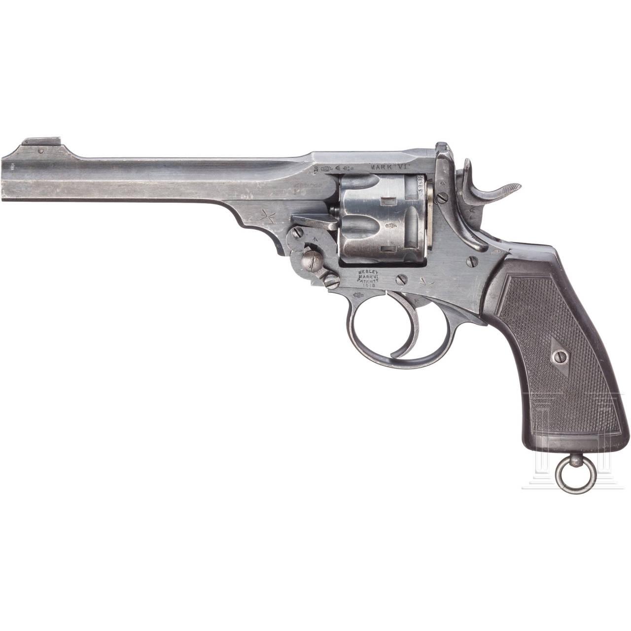 "Webley Mark VI Service Revolver with Shoulder Stock Attachment (""Grabenrevolver"")"