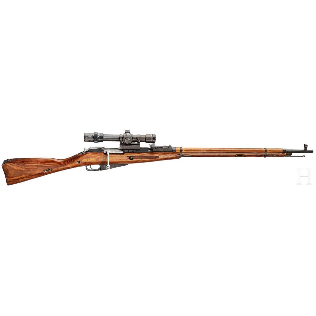 A Sniper Rifle Mosin-Nagant Mod. 1891/30, with original PE-scope 1st issue