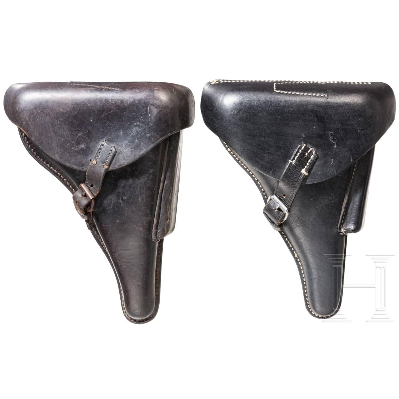 Zwei Koffertaschen zur Pistole 08, Wehrmacht
