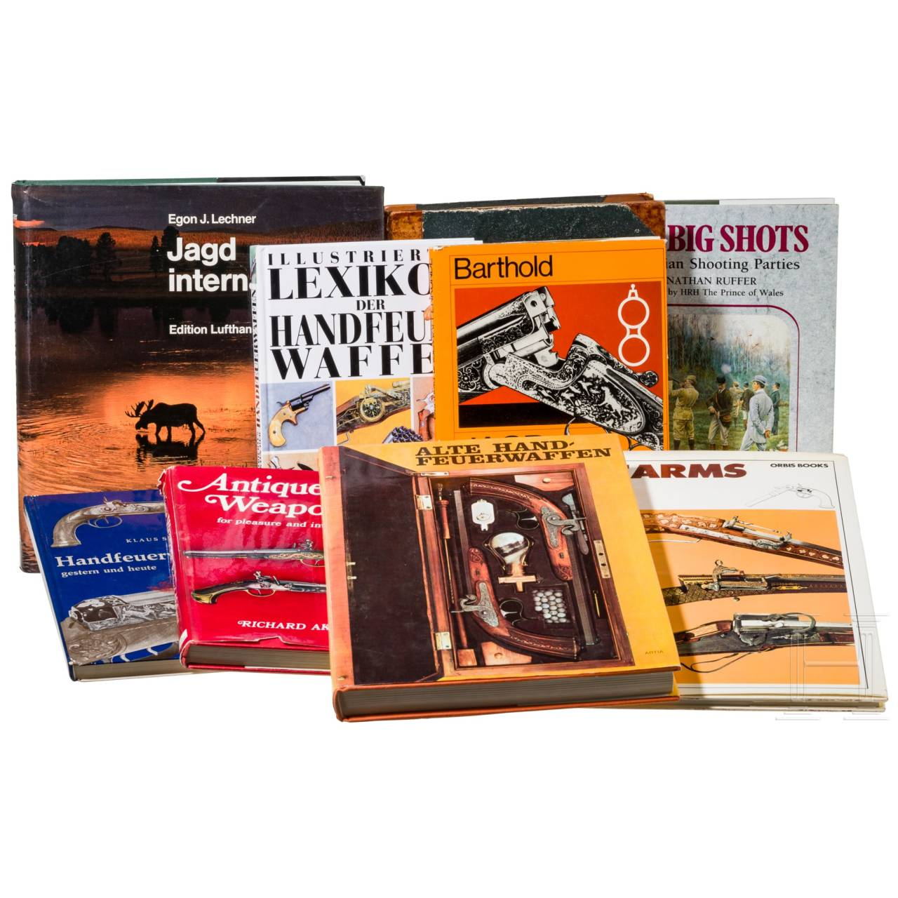 Nine books on hunting and firearms