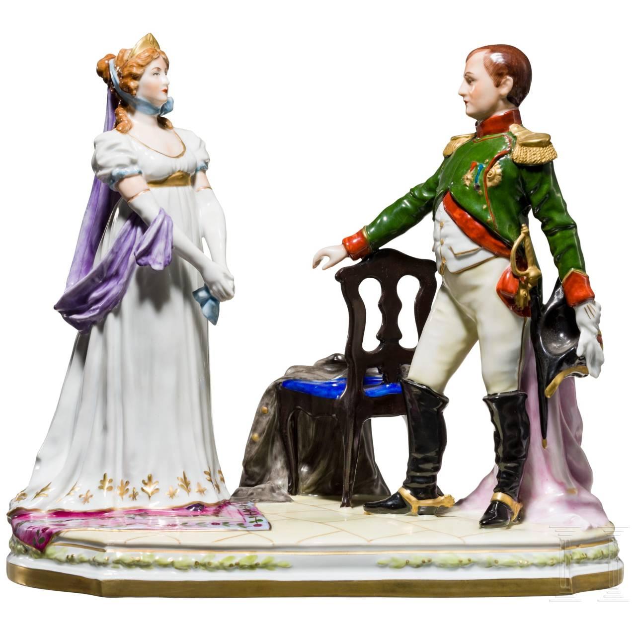 Kaiser Napoleon I. und Kaiserin Josephine, Porzellanmanufaktur Scheibe-Alsbach, 20. Jhdt.