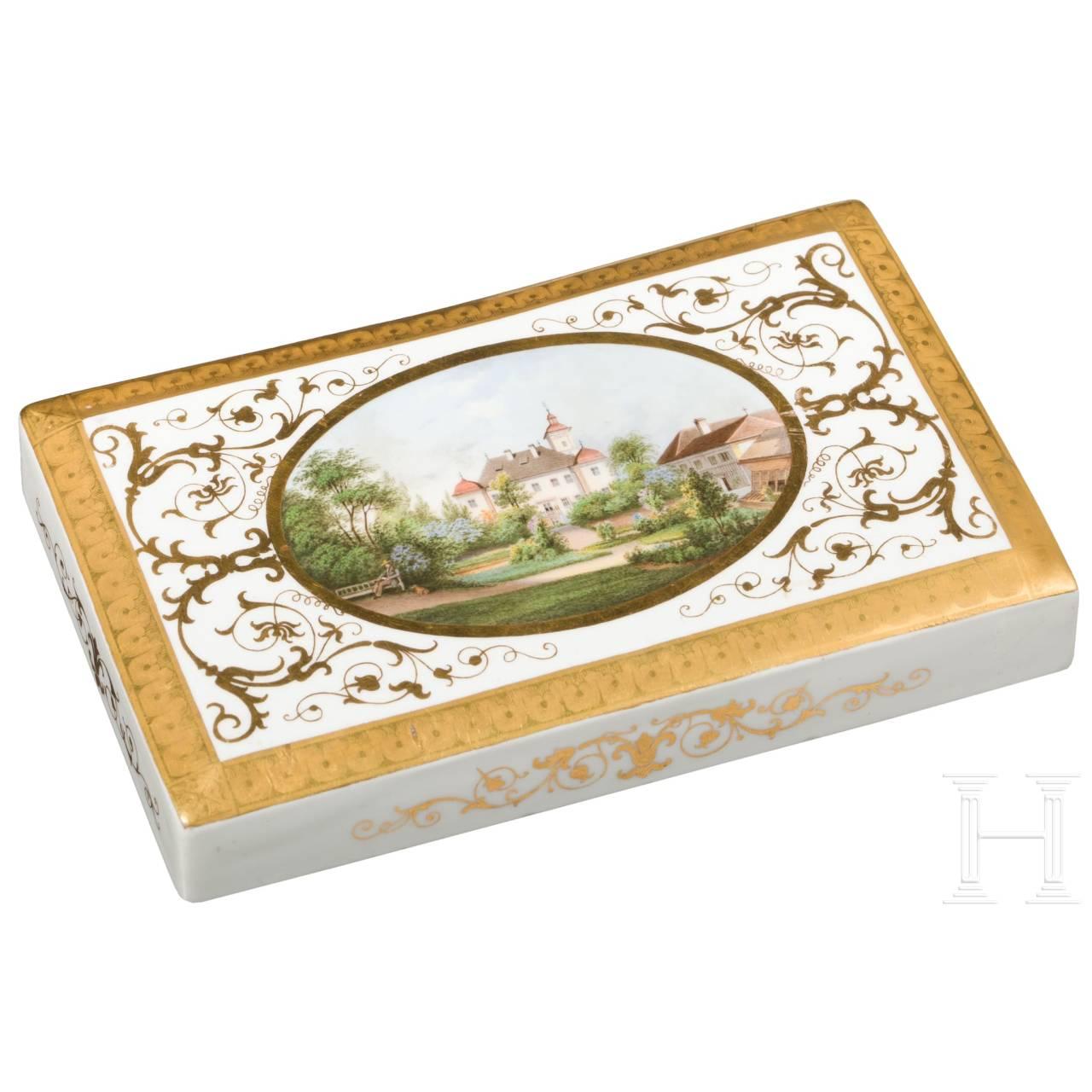 Prinz Karl von Bayern (1795 - 1875) - Briefbeschwerer mit Abbildung von Schloss Kleeberg