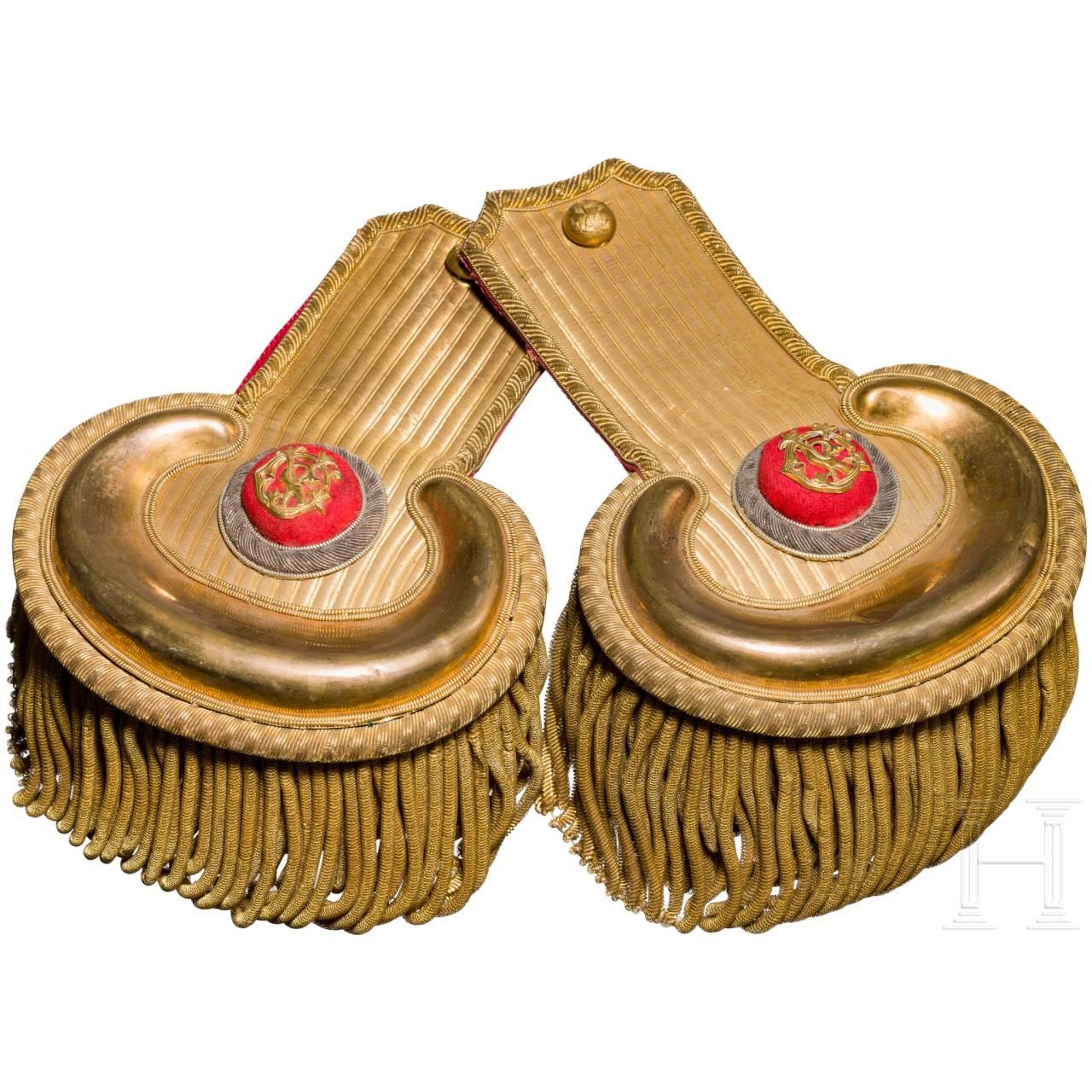 Ein Paar Epauletten für einen Offizier der US-Army, 2. Hälfte 19. Jhdt.