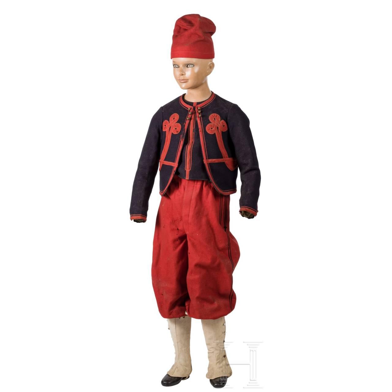 Zuaven-Kinderuniform, USA, 19. Jhdt.
