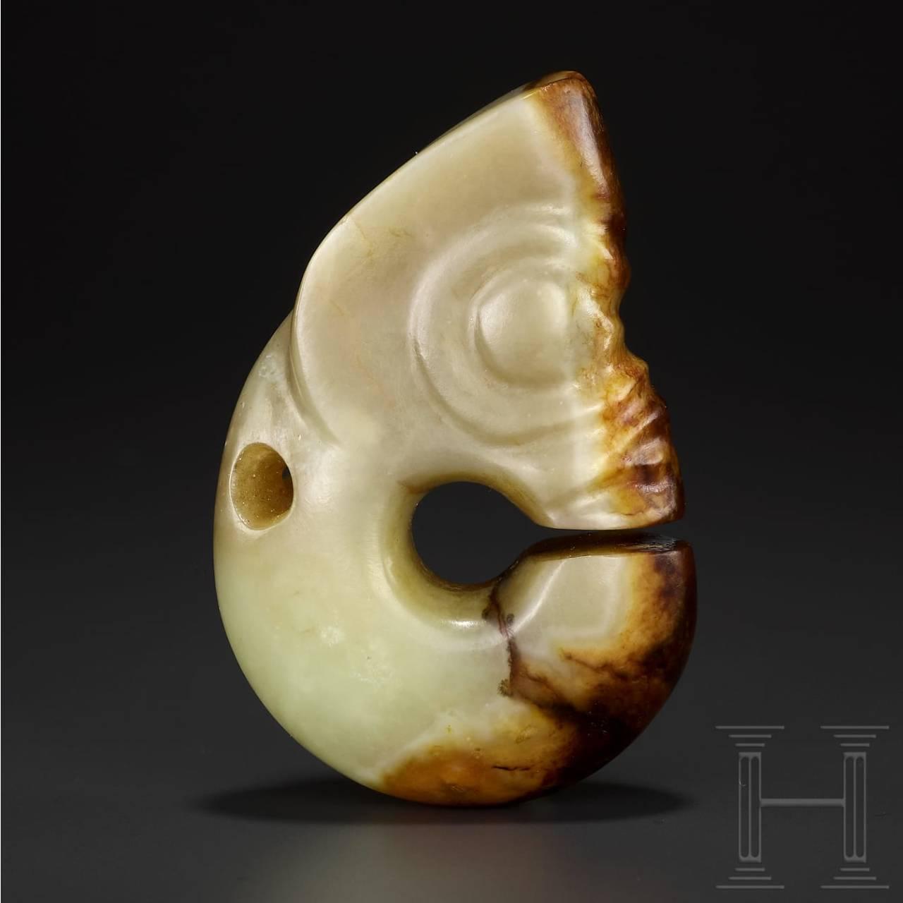 A Northeastern Chinese late Neolithic jade pig dragon (zhulong), Hongshan culture, 4700 - 2900 B.C.
