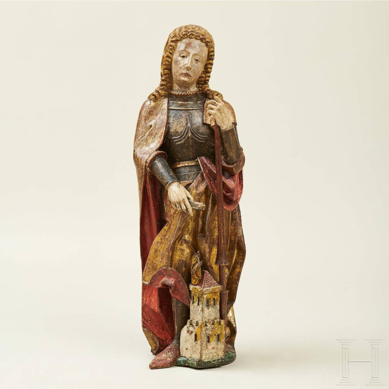 Skulptur des Heiligen Florians, süddeutsch, 2. Hälfte 15. Jhdt.