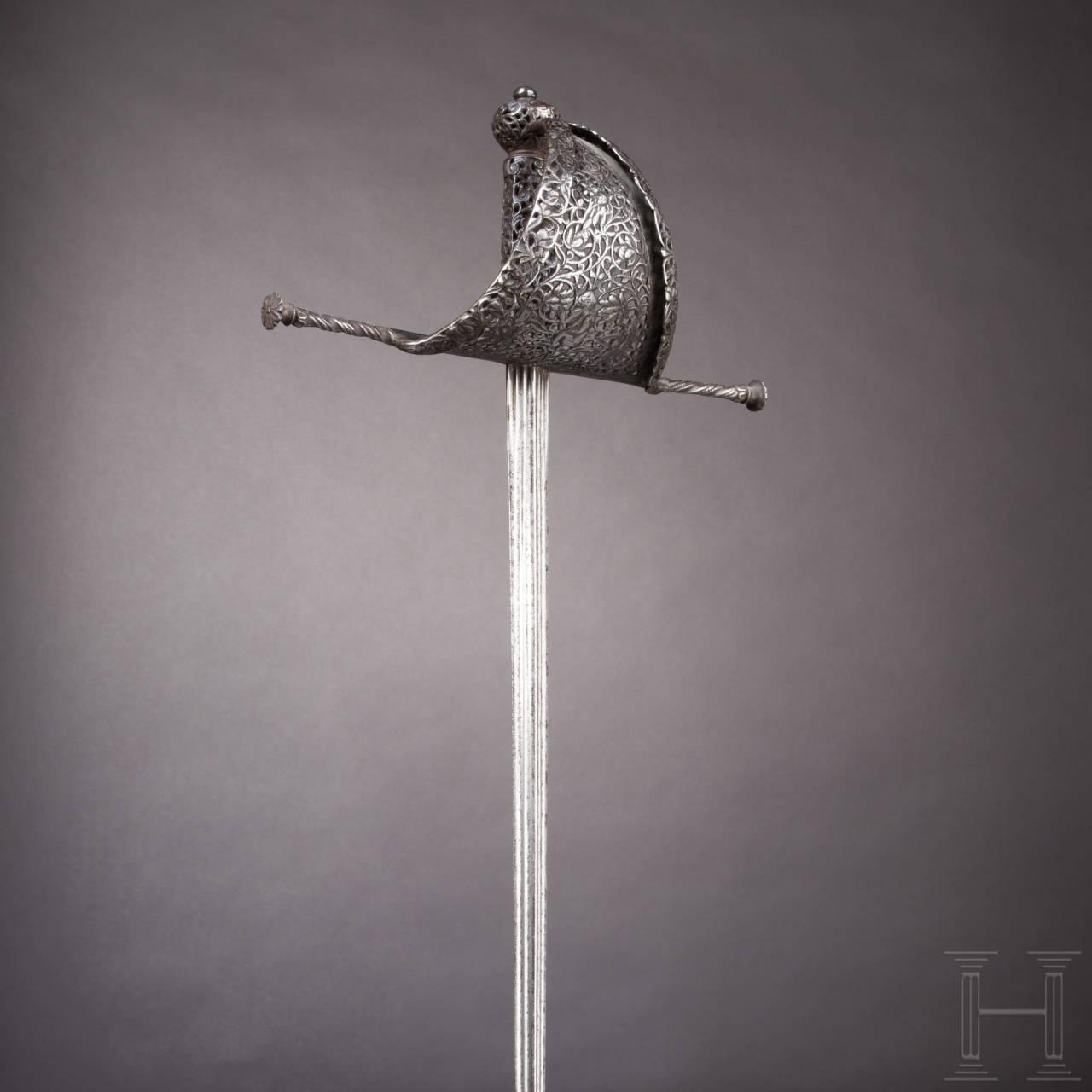 Linkhanddolch mit fein duchbrochenem Gefäß, Italien, um 1650