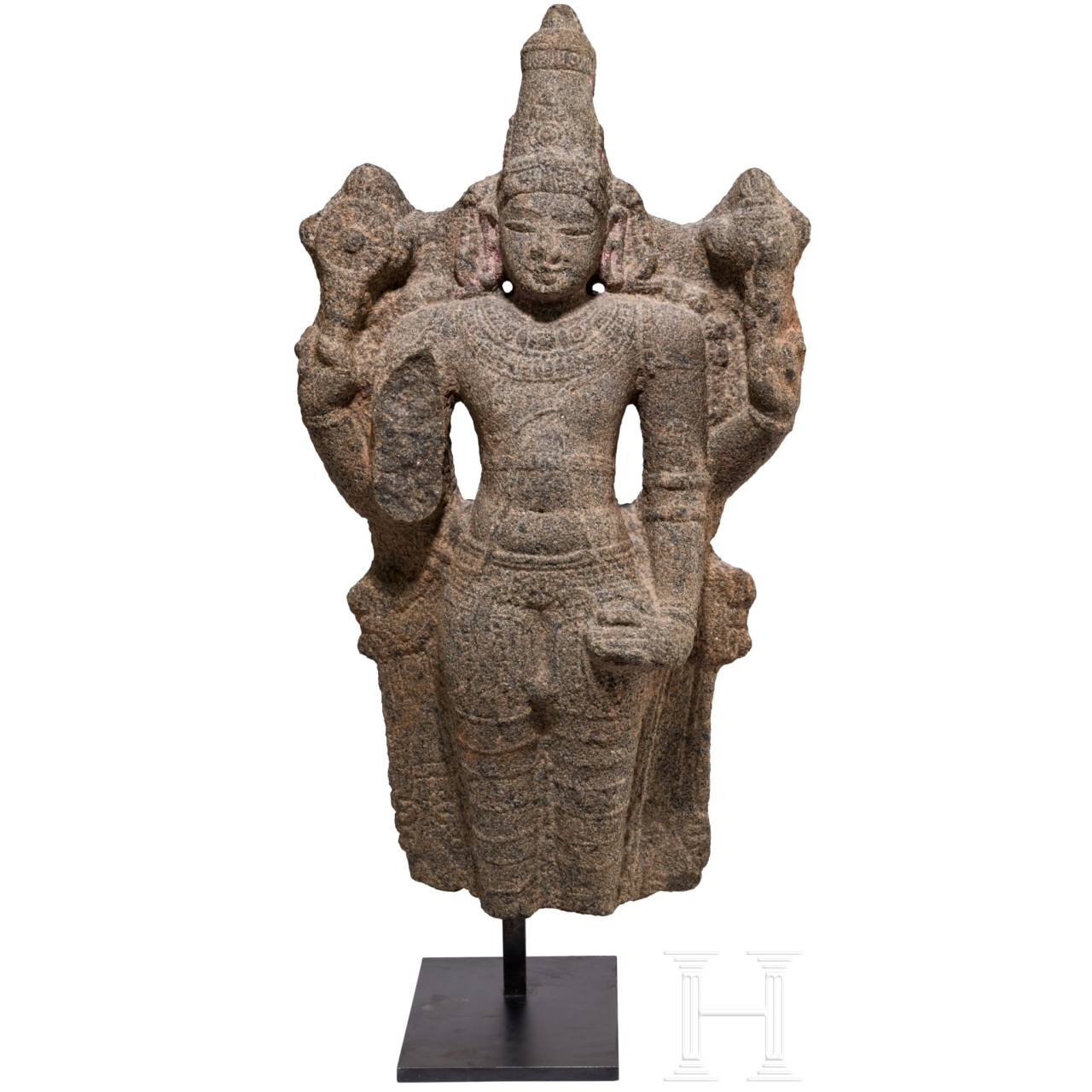 Früher stehender Vishnu im Cholastil, Südindien, 13. Jhdt.