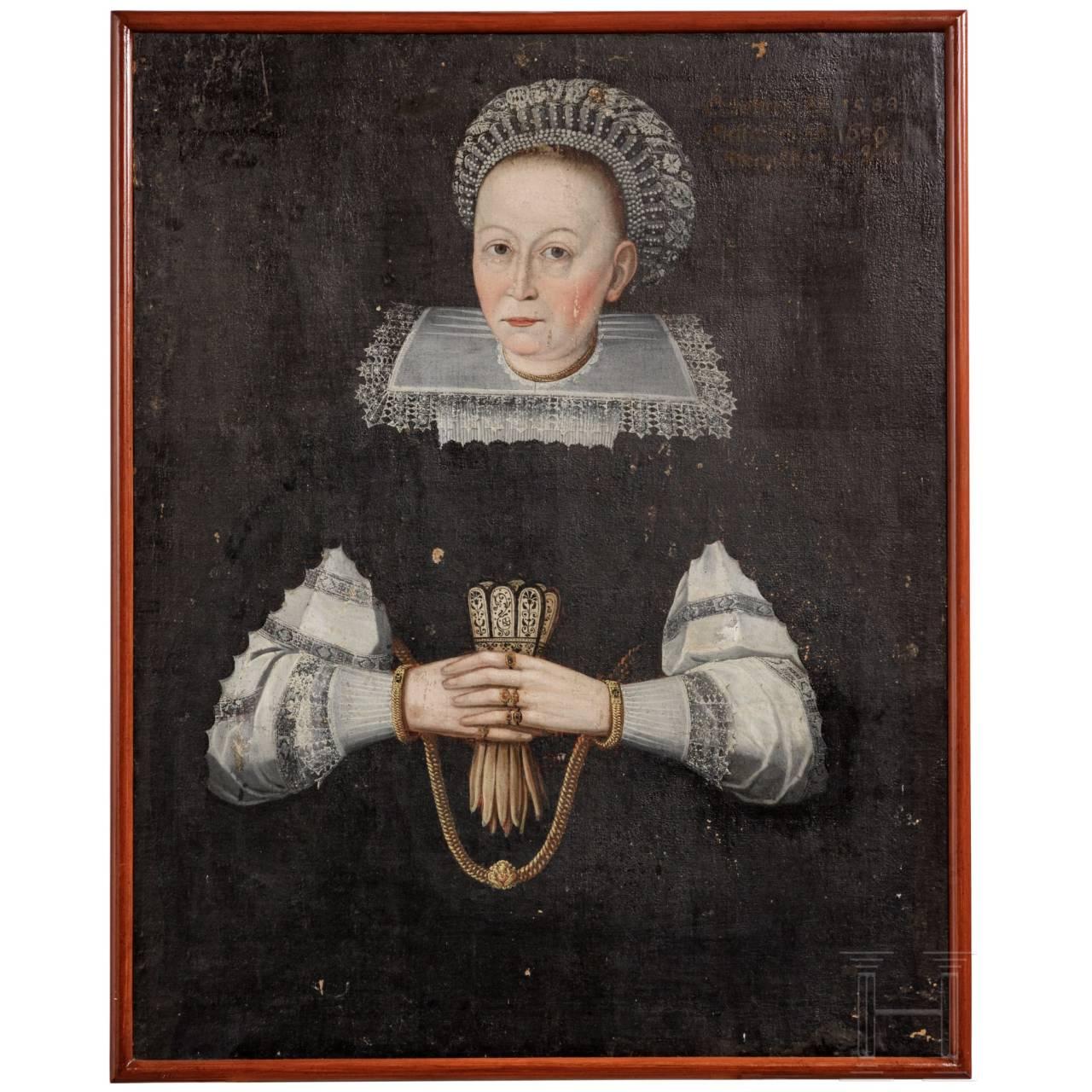 Portrait einer Dame, deutsch, datiert 1639