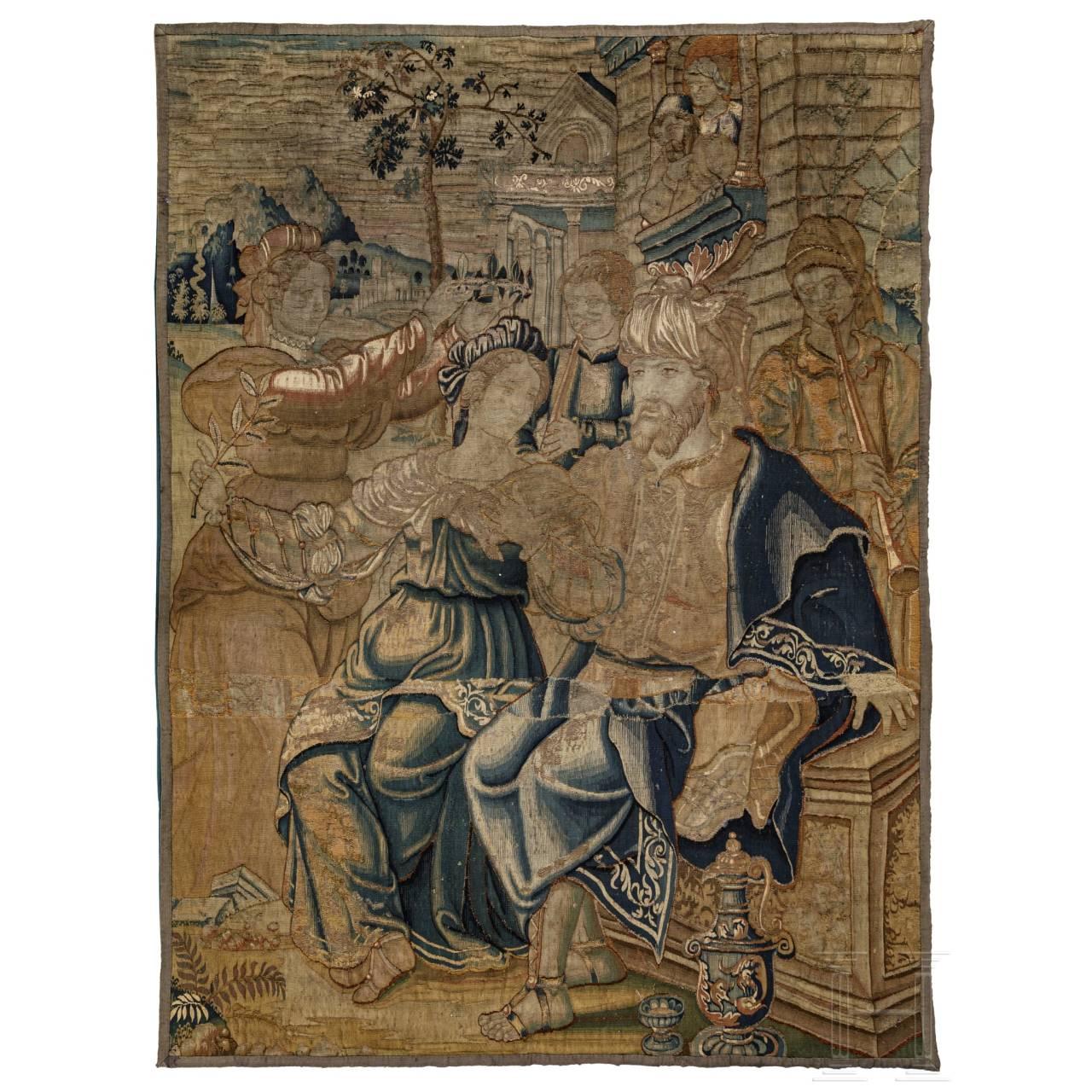 Fragment einer barocken Tapisserie, Flandern, frühes 17. Jhdt.