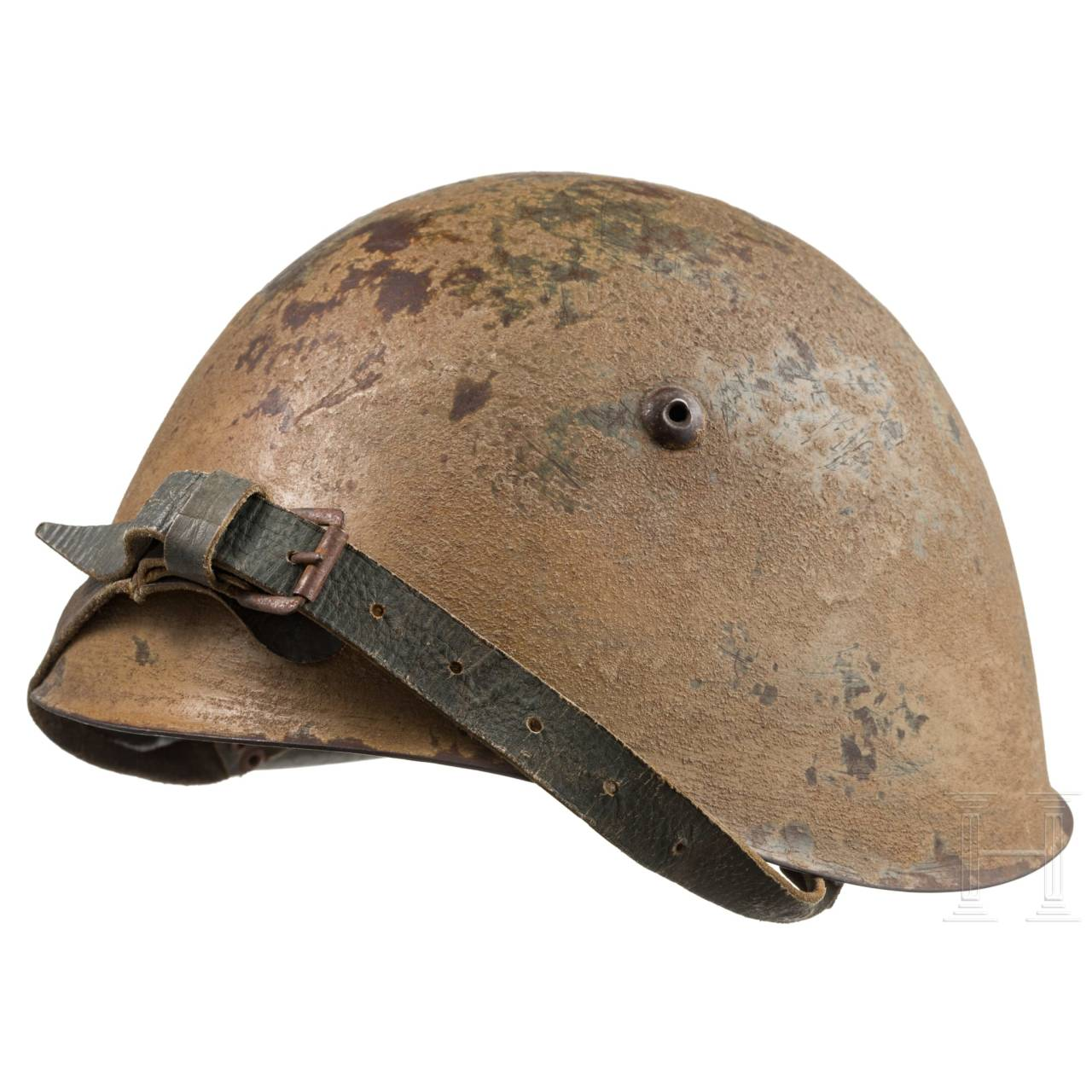 Stahlhelm M 34 in Tropentarnfarbe