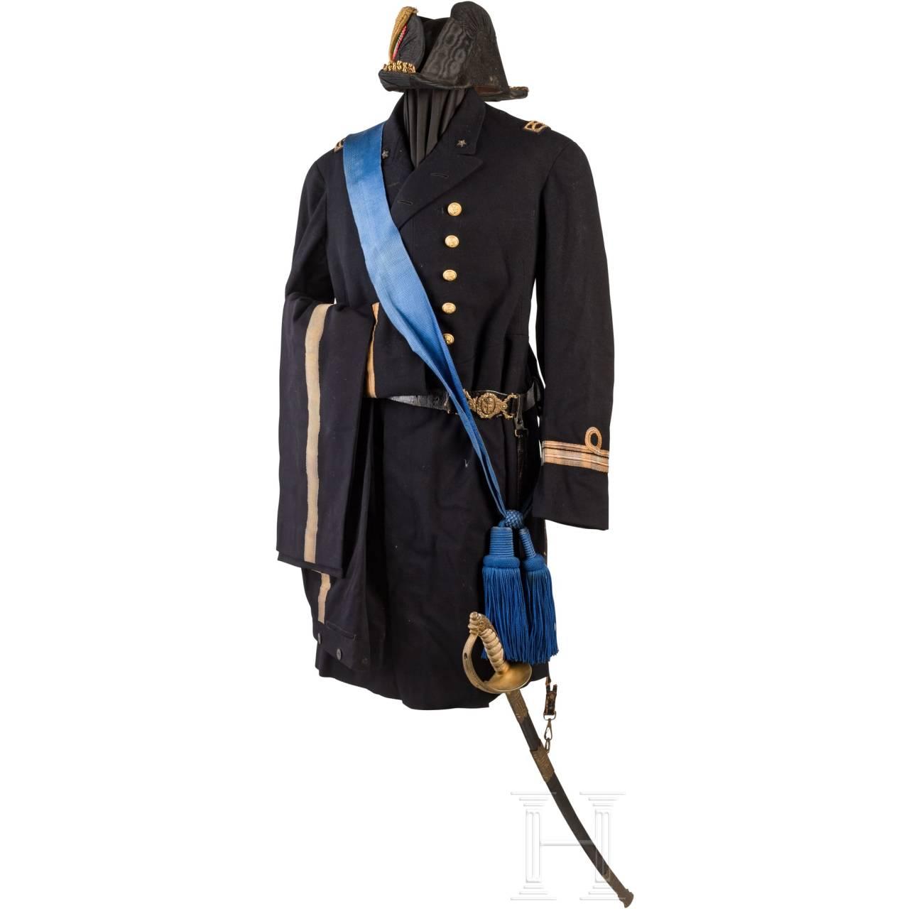 Uniformensemble für Offiziere der Marine, 1. Hälfte 20. Jhdt.