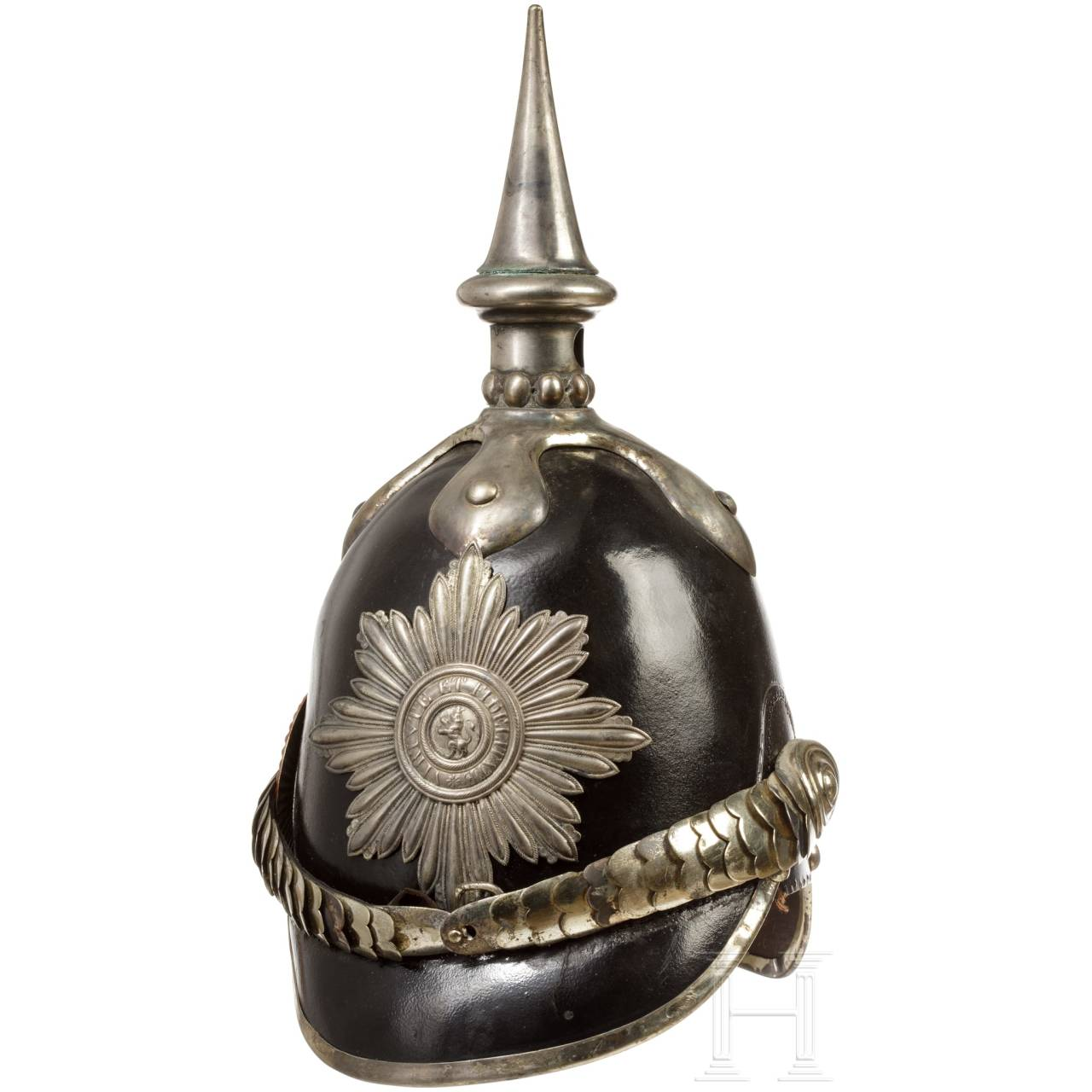 Helm M 1849 eines Hornisten der Gardetruppen