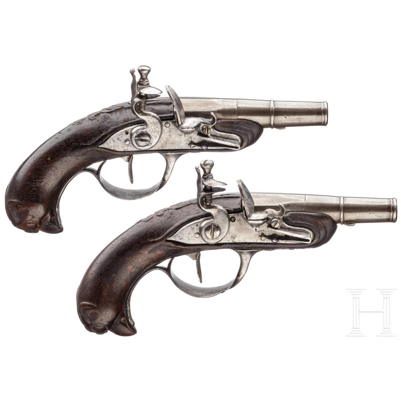 Ein Paar Reisepistolen, Frankreich, um 1780