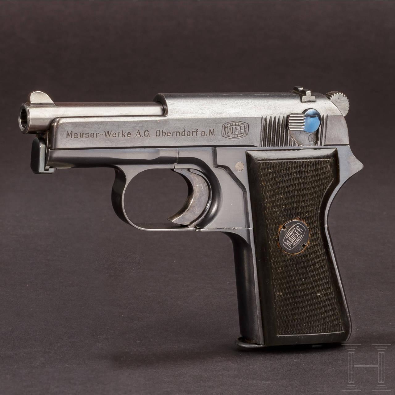 Mauser Selbstladepistole - Prototyp mit Hahn und Revolverspannung