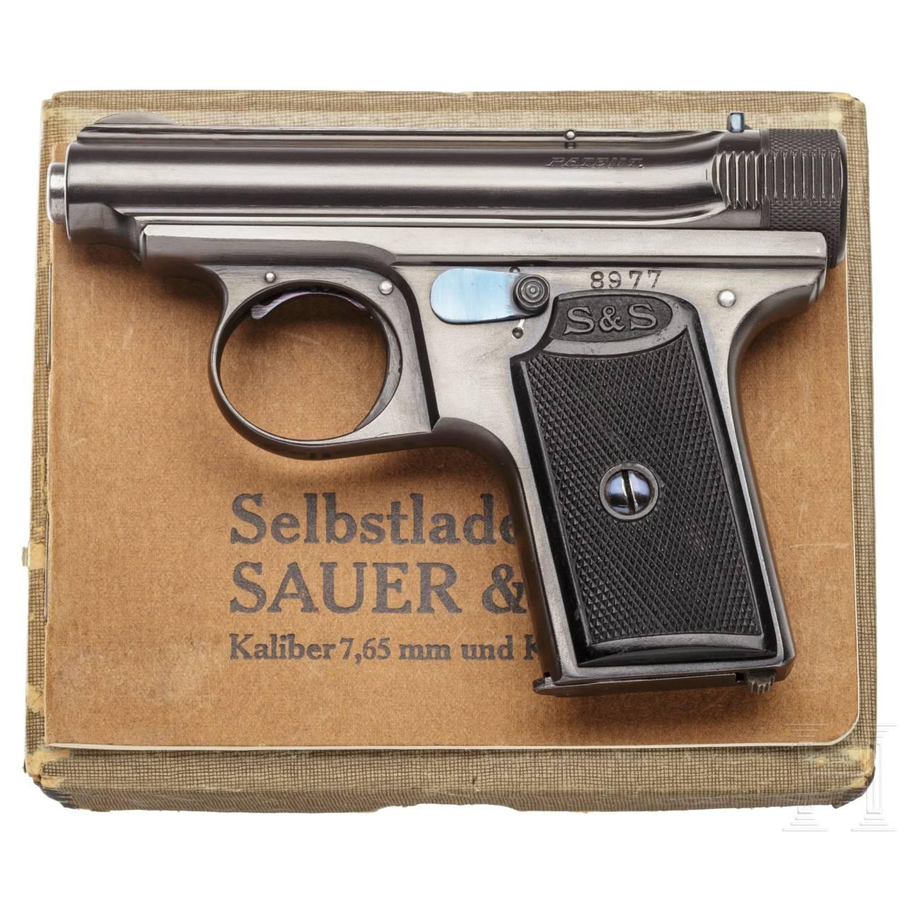 Sauer & Sohn Mod. 19, 1. Ausführung, im Karton