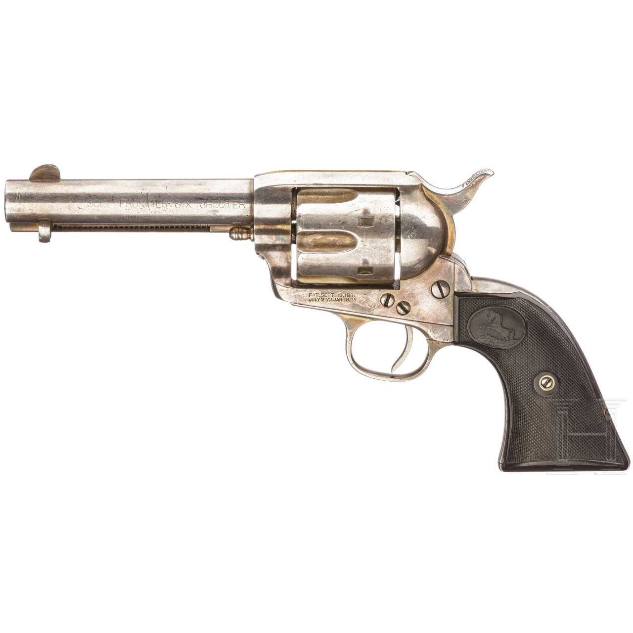 Colt Single Action Army 1873, versilbert, Frontier Six Shooter