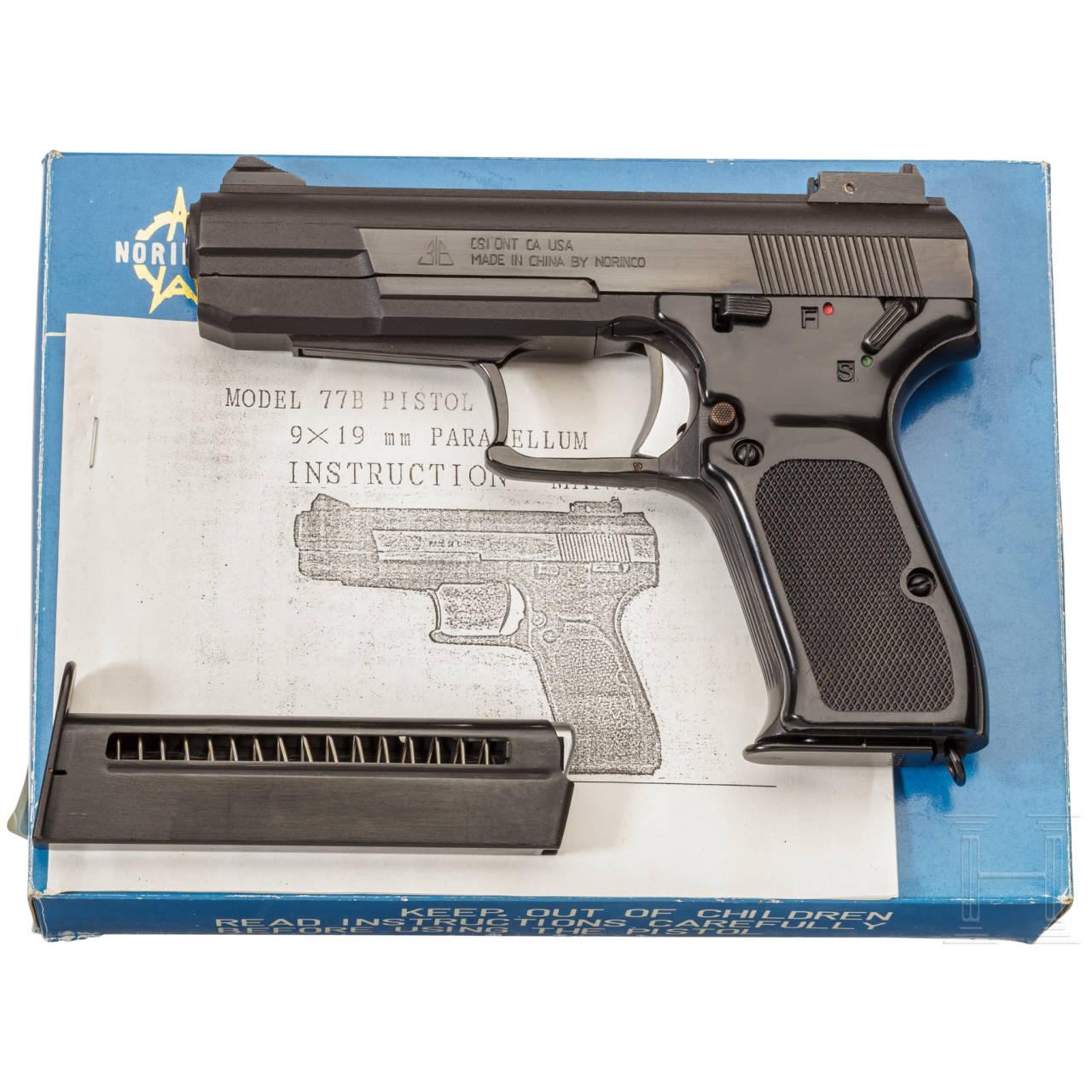 Einhandpistole Mod. 77 B, im Karton