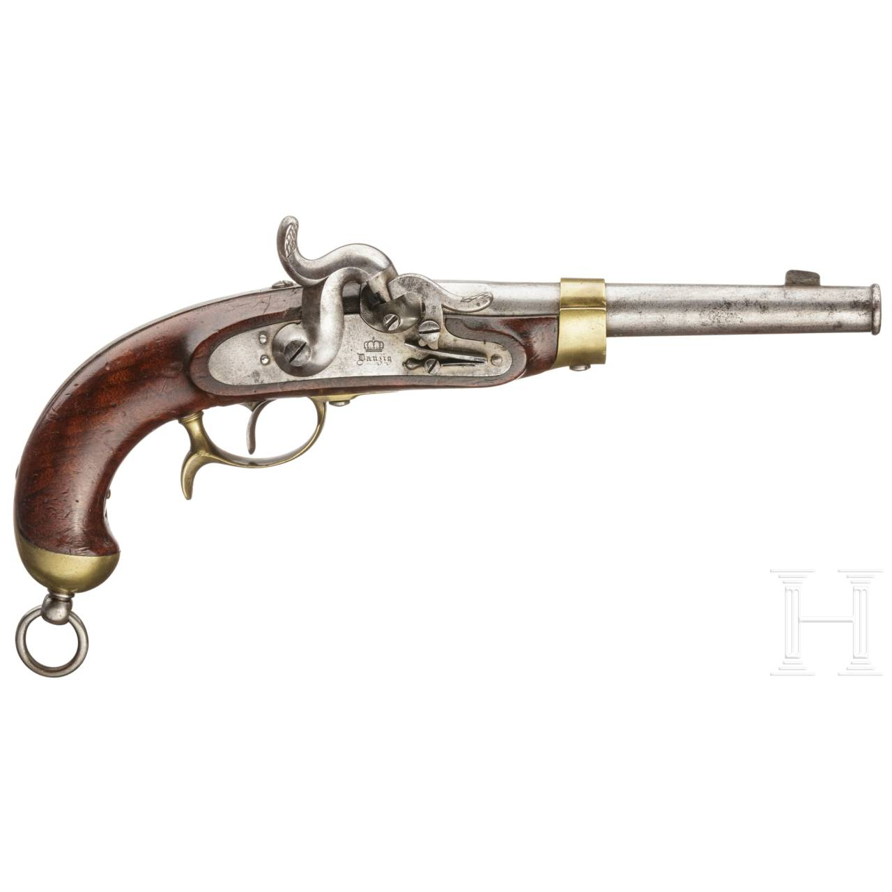 A German cavallery percussion pistol M 1850, Danzig, 1853