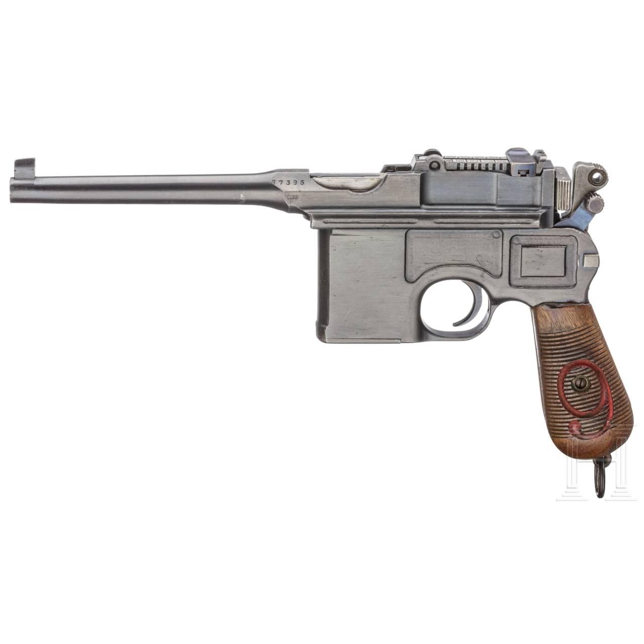 Mauser C 96/16, mit nummerngleichem Anschlagkasten