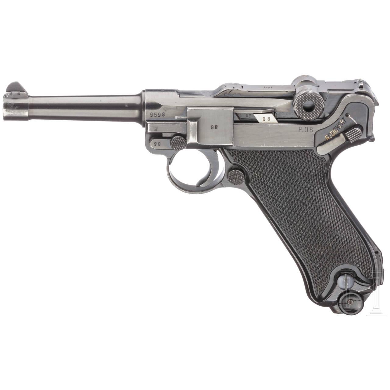 """Pistole 08, Mauser, Code """"byf - 41"""""""