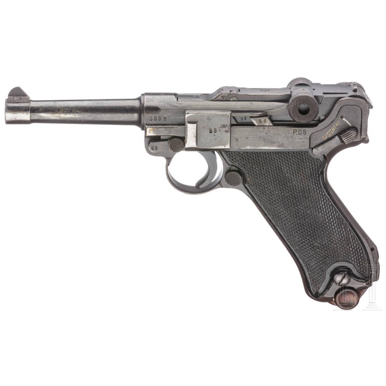 """Pistole 08, Mauser, Code """"byf - 42"""""""