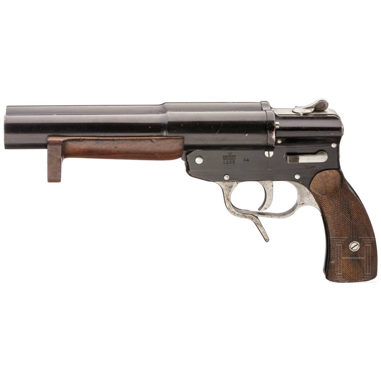 """Doppelläufige Marine-Signalpistole SLd, Code """"eeu - 44"""""""