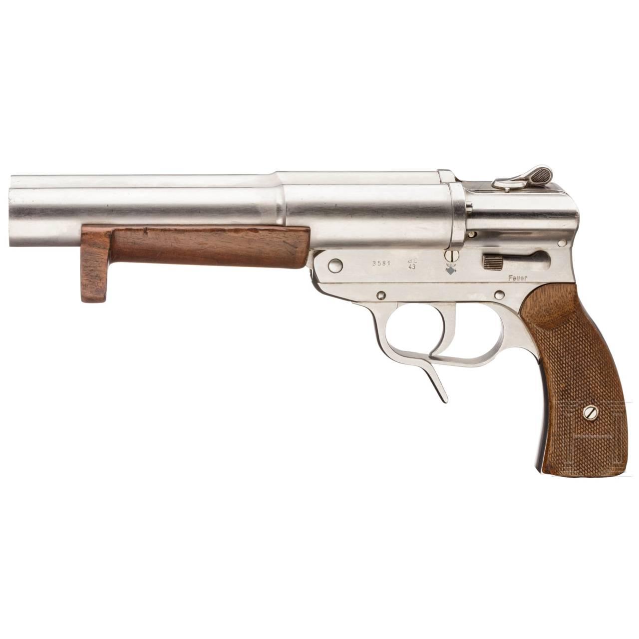 """Doppelläufige Marine-Signalpistole SLd, Code """"ac -43"""""""
