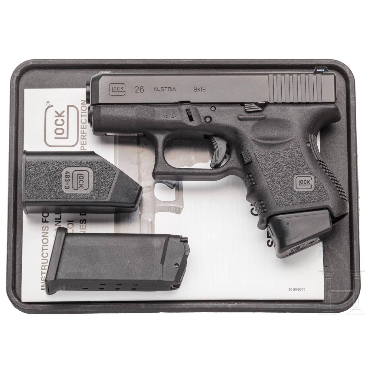 Glock Mod. 26, in Box, Polizei Bayern