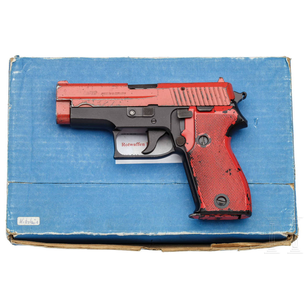 SIG Sauer P 6 rot, Training, im Karton, Polizei NRW