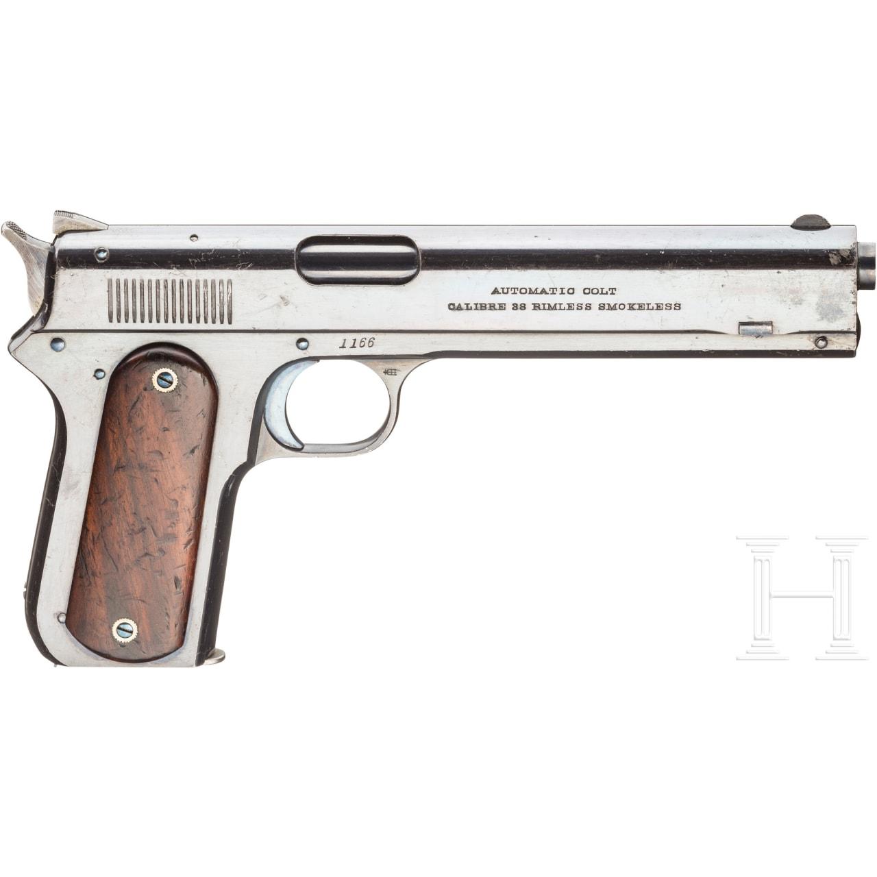 Colt Mod. 1900 Automatic Pistole, Navy-Contract, 1. Waffe eines Pärchens