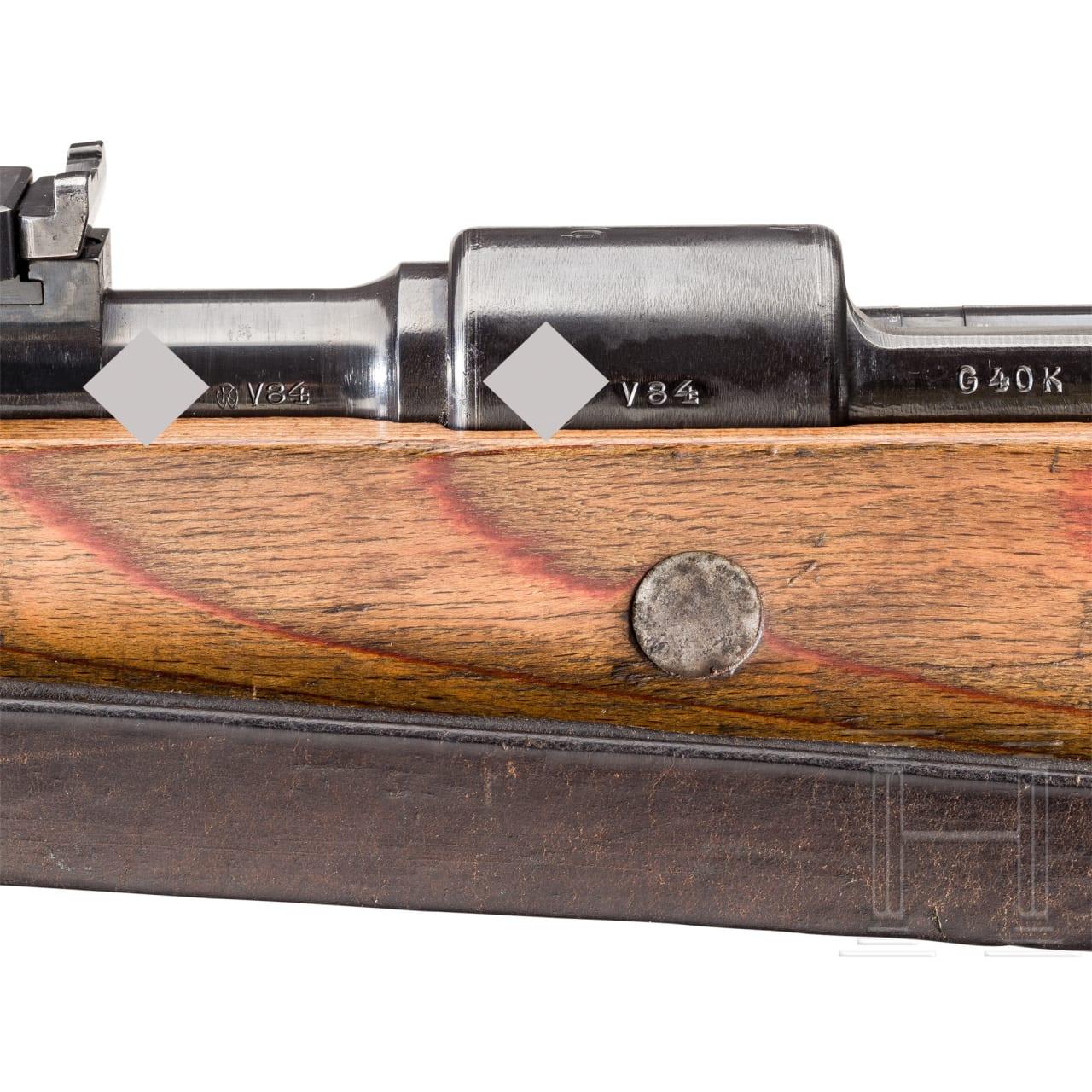 "A Karabiner G 40 k, Code ""byf - 41"", shortened experimental version of the K 98k"