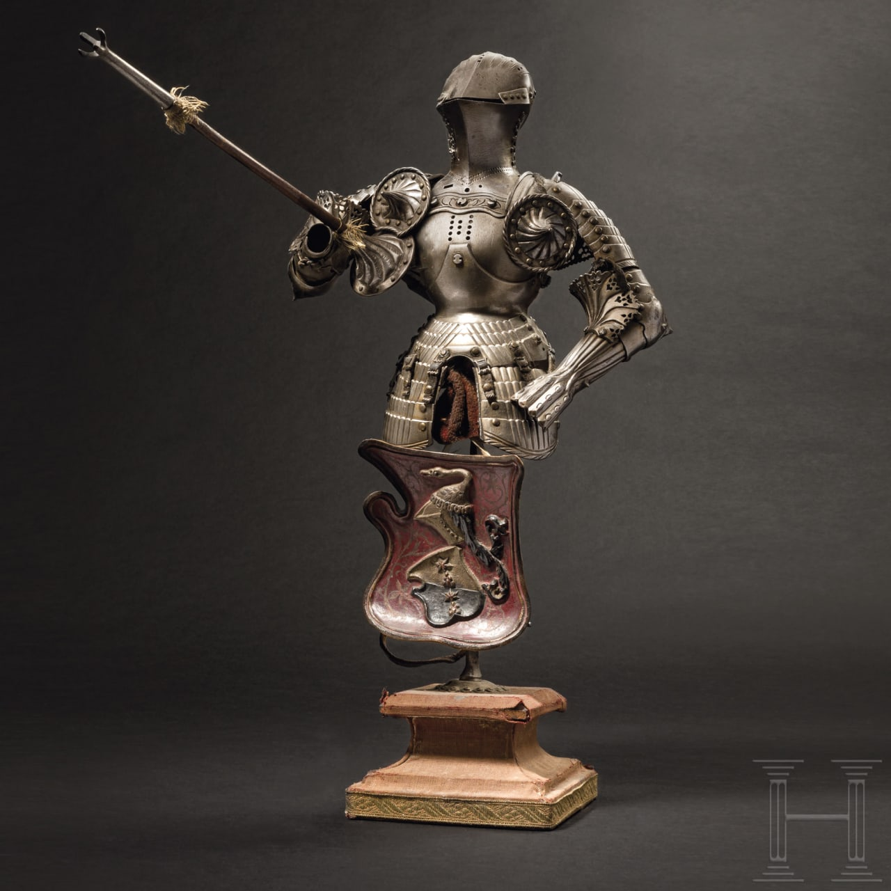 Miniatur-Stechzeug, Kunstschmiede Schneider, München, gefertigt vor 1923