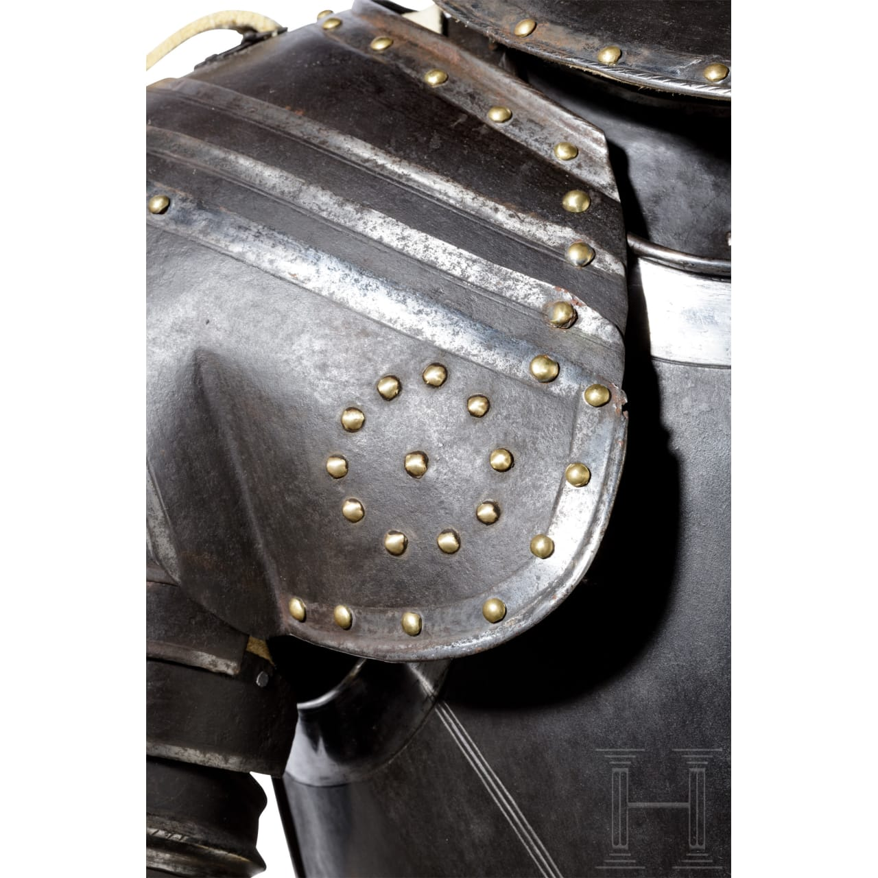 A French cuirassier's black and white armour, circa 1620