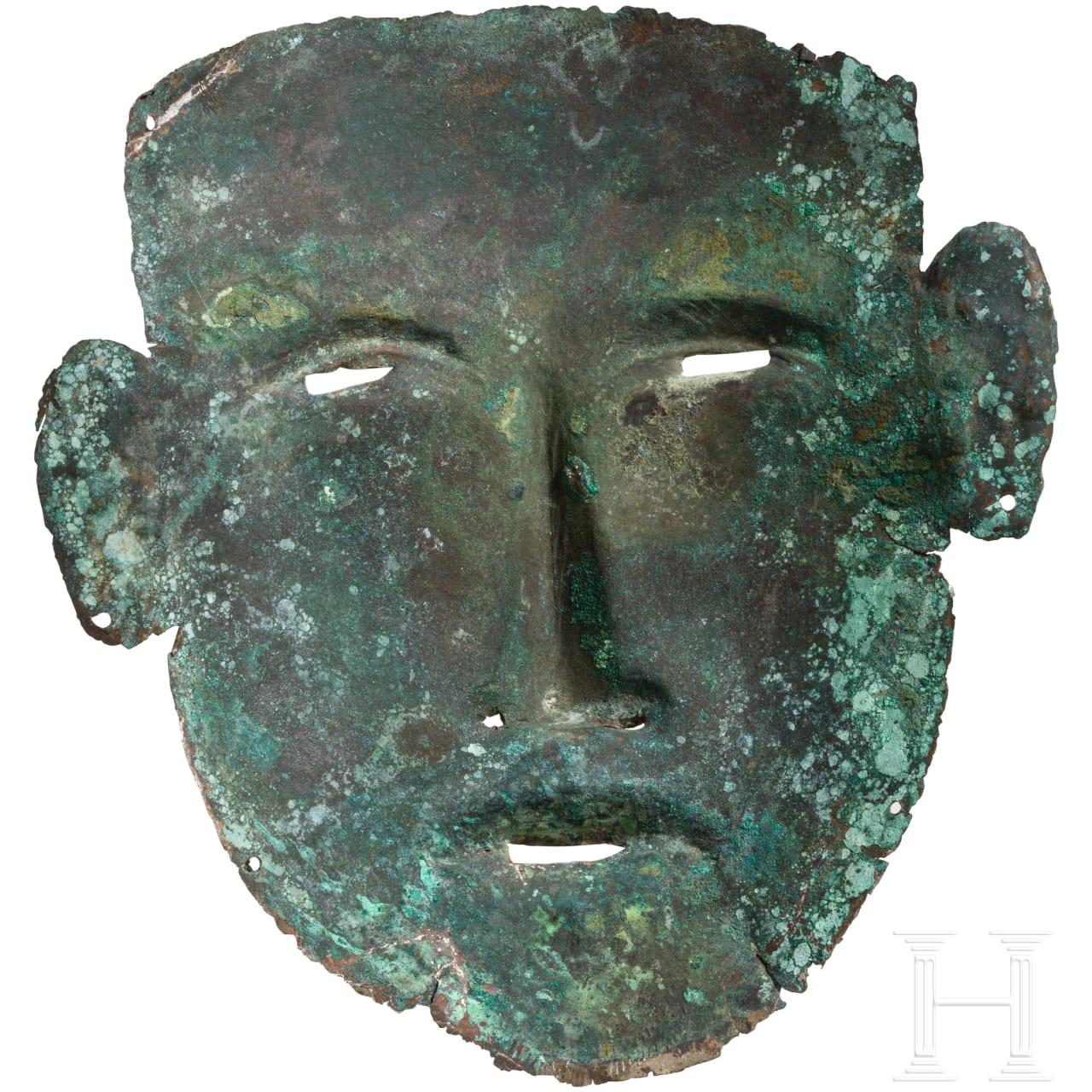 Bronzene Totenmaske, frühe Eisenzeit Südosteuropas, ca. 6. Jhdt. v. Chr.