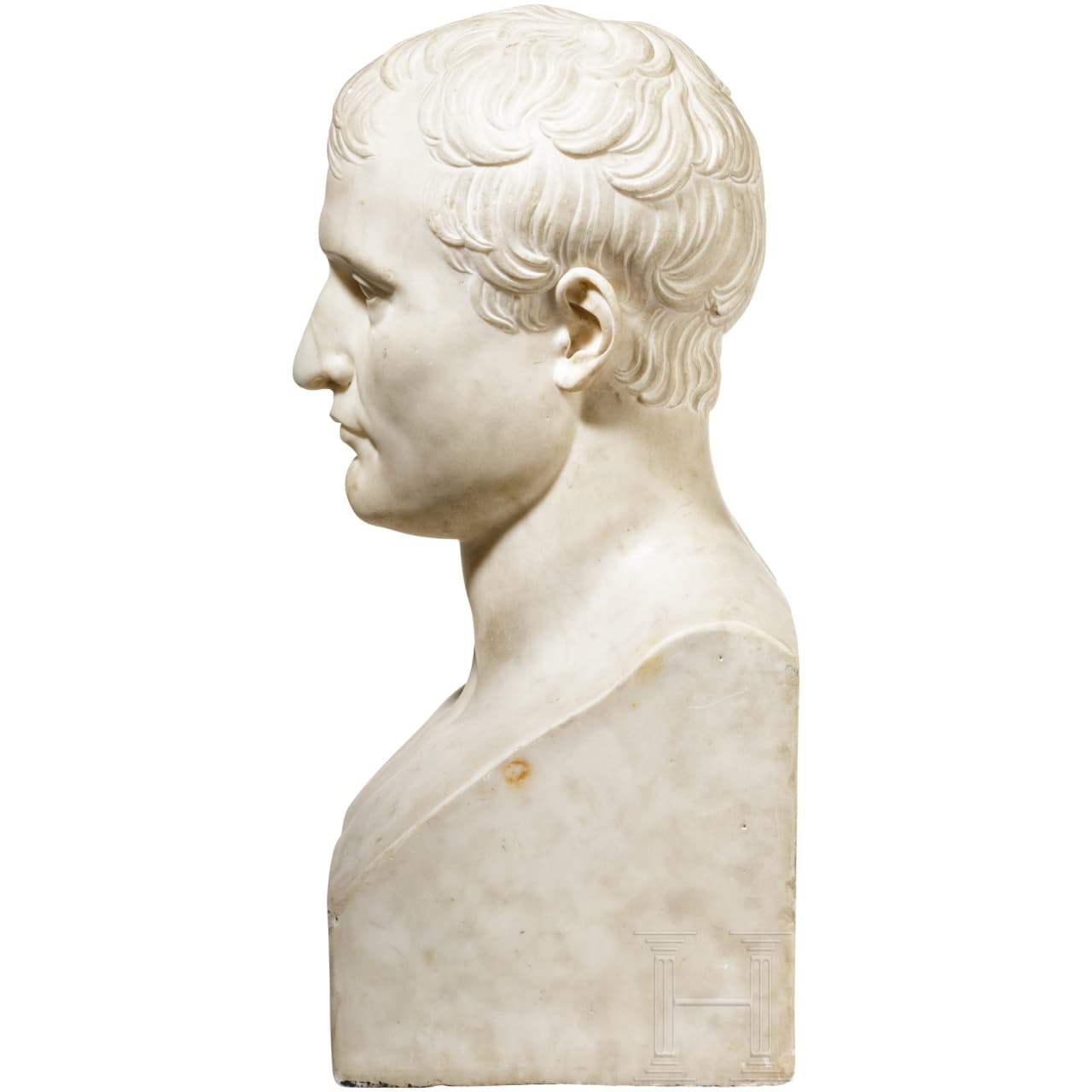 An imposing French bust of Napoléon Bonaparte, early 19th century