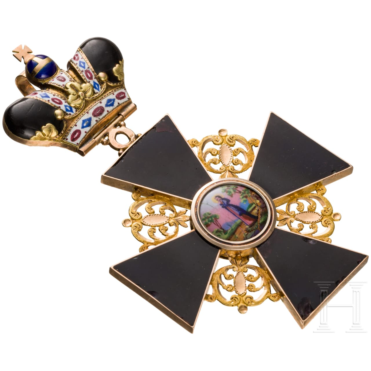 A Russian Order of St. Anna, 1st class cross with crown, dated 1867