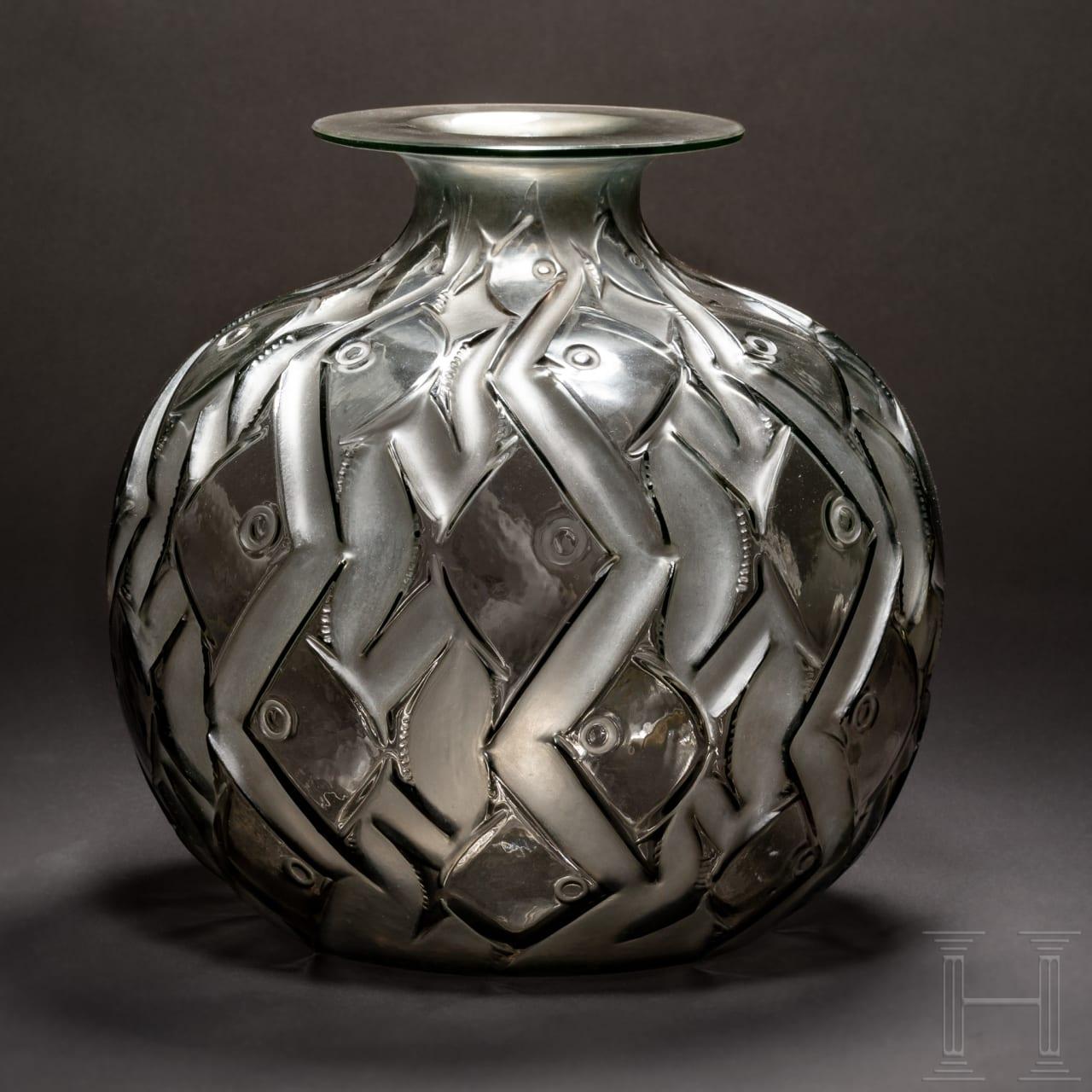 """Art déco-Vase, Modell """"Phentièvre"""", René Lalique, Frankreich, um 1928"""