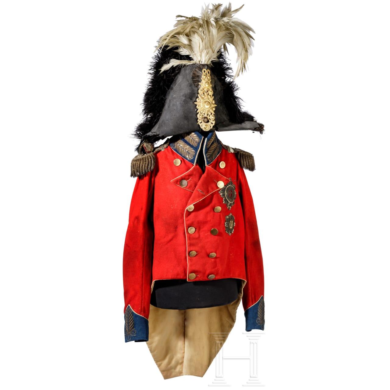 King Frederick VI of Denmark, Duke of Saxe-Lauenburg (1768 - 1839) – a general's uniform, circa 1814/20